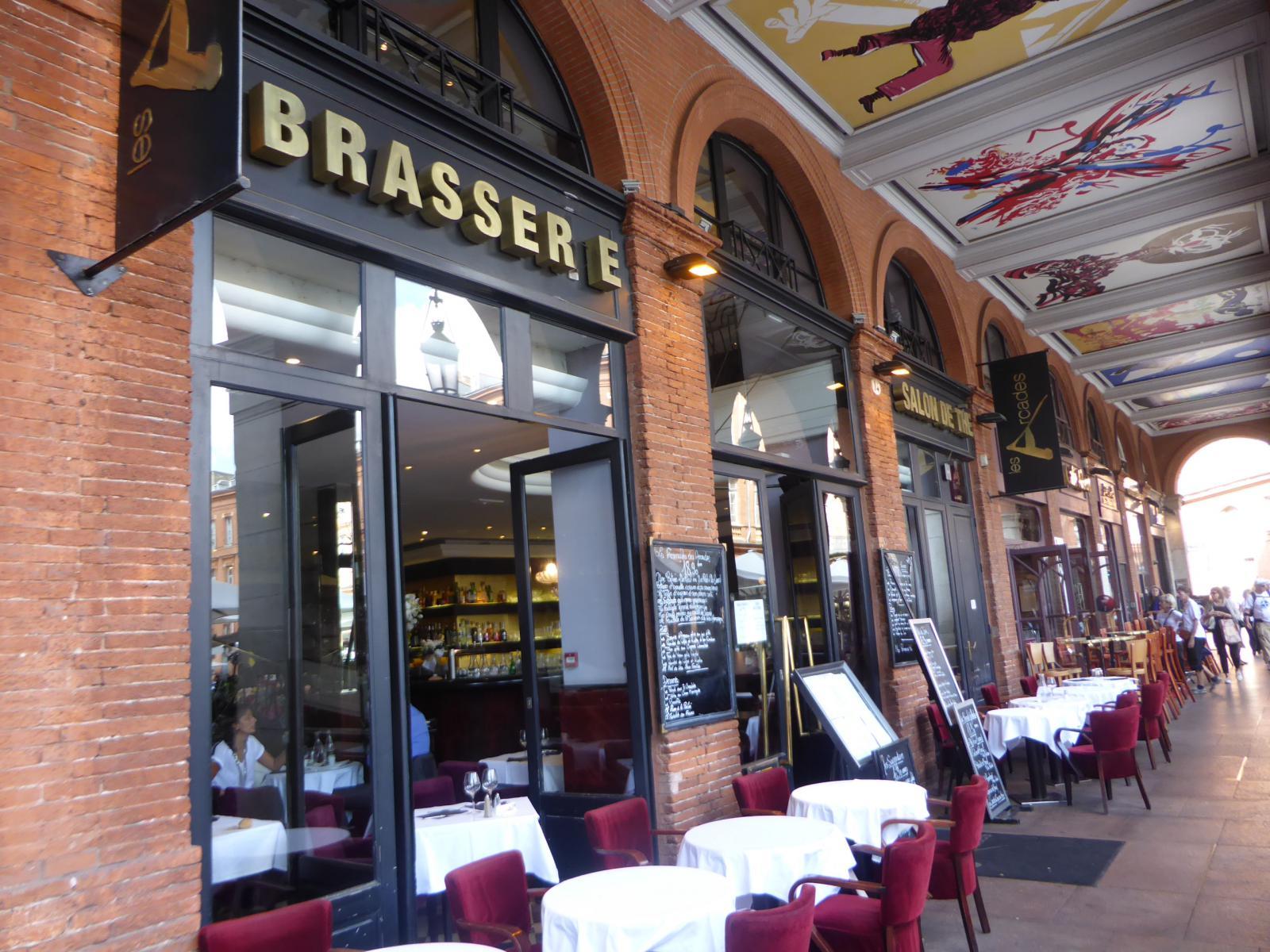 Terrasses de Toulouse : Brasserie Les Arcades